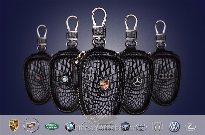 Top Luxury Crocodile Leather Case Car Key  Holder Wallet,High-end Leather bmw key case_3