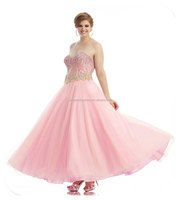 Fashion Beaded Sweetheart Sexy evening dress for fat women FXL-676