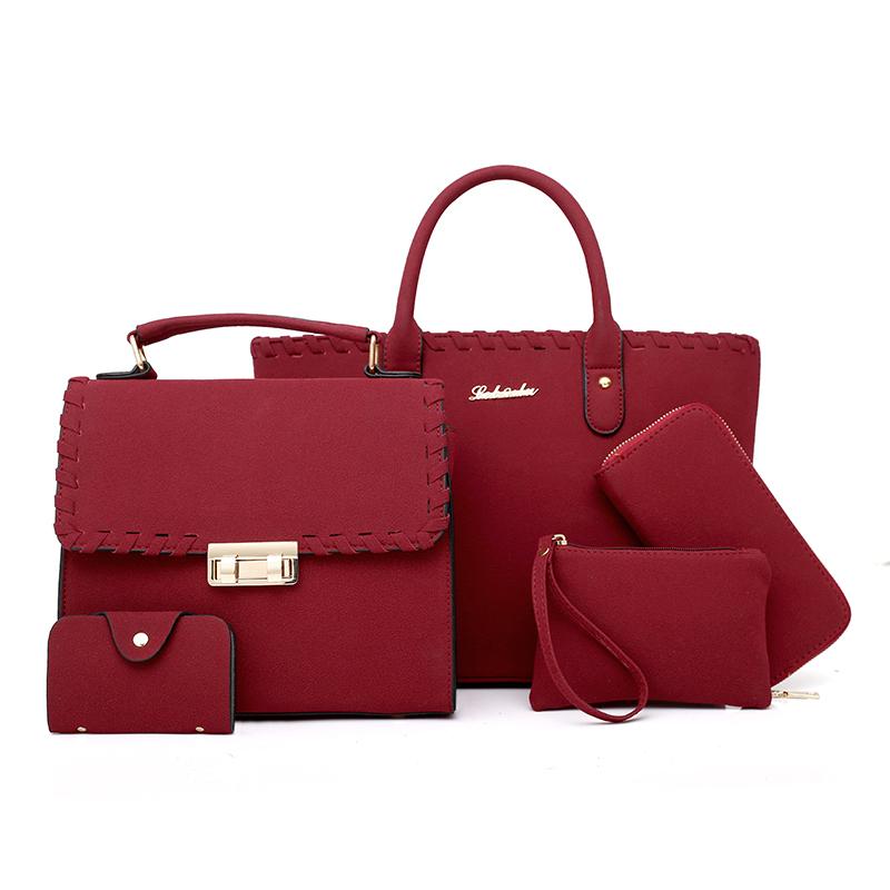 Dubai mode frauen tasche dame großhandel billige kanal taschen weiche oberfläche frauen handtasche set 5