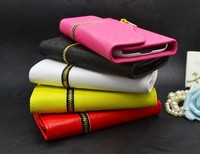 fashionable cute high quality fold color book wallet flip pu leather case for iphone 5c