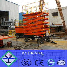 Hidráulico de tijera eléctrica elevación equipo de mesa / X mesa elevadora