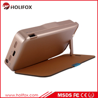 Alloy Metal Portable External Battery Charger Case Power Bank For Iph For Iphone 5 Power Case With Flip Cover