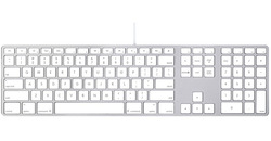Wired computer keyboard with Numericcomputer keyboard Compatible with Mac OS X v.10.6.8 & later Versions FOR Apple