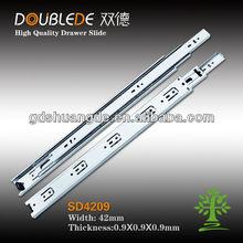 42mm 3-fold jieyang baratos diapositivas / carriles guía cajones / cierre suave diapositivas del cajón