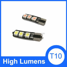 Lowest defective rate t10 5w5 canbus car led auto bulb light, led automotive 6smd 5050 interior bulb T10 canbus led