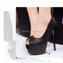 14cm lady sexy peep toe platform high heels fish mouth shoes pumps dress shoes for lady shoes