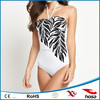 halter neck swimwear, one piece swimwear, plain swimsuit