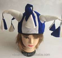 crazy hat party ideas/yblue and white horn carnival hat/funny carnival party hats