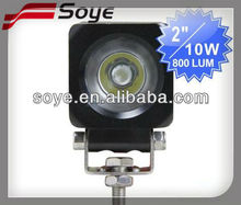 2012 newest 2'' 10w CREE led work light, toughed glass material 30000h led bus light tank