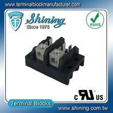 TGP-085-02A Power Distribution Tab Type 85 Amp 2-Pole Terminal Block