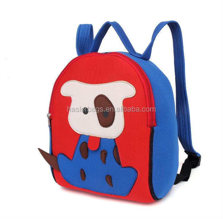 Hot style mignon enfants sac d'école de chien avec des prix d'usine