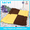 Small Large Pet Dog Cat Puppy Crate Cage Kennel Bed House Soft Cozy Pad Mat Brown&Yellow