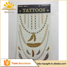 Tests passed non toxic customized glow in the dark temporary tattoo
