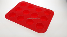 Baking Dishes & Pans Type 100% Food Grade Silicone Baking Cookware Tray 12cup Muffin/Cupcake Pan