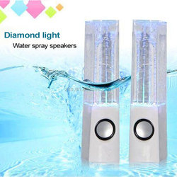 """Crystal colorful stereo music fountain spray speakers """"daruma"""" dance water acoustics subwoofer mini acoustics"""