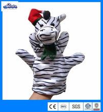 2014best selling Christmas ornament zebra hand puppet