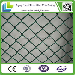 manufacturer price and high quanlity chain link fence PVC coated chain link fence panels