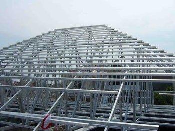 atap rangka baja ringan pasang atap rumah metal