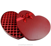 empty small chocolate gift packaging box with foam insert