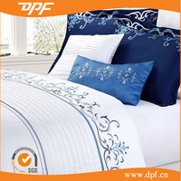 2015 High quality hand embroidery bed sheet