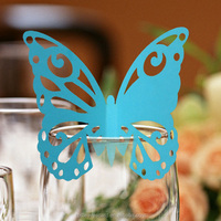 Laser cut place cards for wine glass decoration