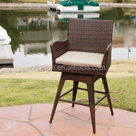 Big sale tall patio rattan swivel chair with arms and for Tall patio chairs sale