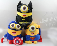 2015 hot selling despicable me minions stewart high quality plush toy from Carrefour supplier