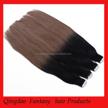 100% hight quality virgin remy human hair hand tied skin weft tape hair extensions