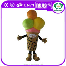 HI CE Hot Sale custom ice cream mascot costume,ice cream maker toy for adult