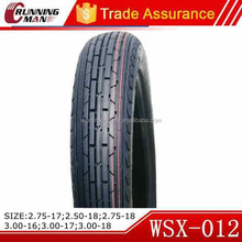 Small Size High Speed Motorcycle Tires 300-17