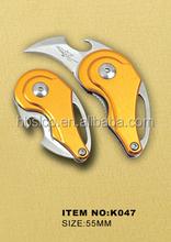 2015 personnalisé porte-clés en métal avec couteau