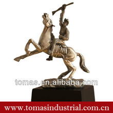 New arrival fashionable horse and fingure custom resin statue