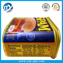 Coated paper laminating adhesive food label