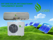 fuera de la red 48v cc noinversor solar de aire acondicionado tipo split de pared 9000 btu