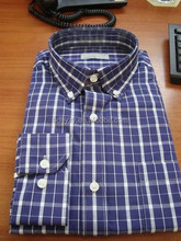 Men gingham shirts with button down collar