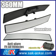 Anti-Glare 360mm Wide Convex Curved Clip On Car Rear View Mirror