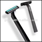 aço inoxidável revestido de platina triplo reta blade barbeador descartável para o sexo masculino