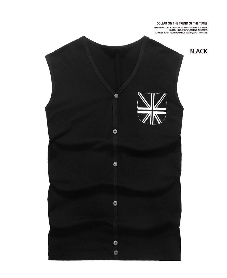 Men Vest Tiled Display Black
