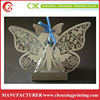 Silver Laser Cut Butterfly Shape Favour Boxes Weddings Christenings Baby Showers Gift Box