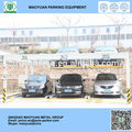2 níveis de elevação mecânica de deslizamento do carro de armazenamento vertical dupla estacionamento sistema de solução