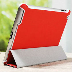 2015 wholesale genuine leather stand cover for ipad 3 luxury genuine stand leather case cover for apple ipad 2