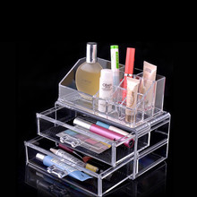 OEM ODM design clear acrylic cosmetic display cabinet and showcase