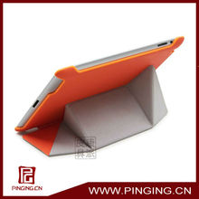 2013 hot sale pretty transformable robot fold leather tablet case for ipad