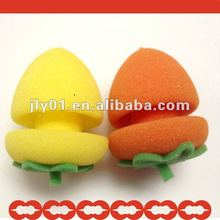 2012 newest hot sale Strawberry Sponge shaped Hair Roller