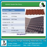 0.4mm Thickness Colorful Stone Coated Metal Roofing Tile For Cost Roof Effective