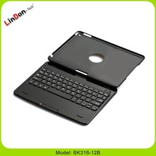 360 degree rotate case for apple ipad air 2 keyboard bulit in 180mAh rechargeable lithim battery keyboard stand for ipad 6 cases