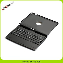 360 degree rotate case with keyboard for ipad air, rotating display case for ipad air 2