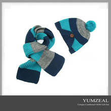 2016 wholes knit winter hat & scarf for kids/Children hat and scarf for winter