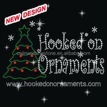 new style hilarious father christmas rhinestone motif design E1 21