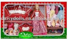 11.5 inch plastic princess doll house